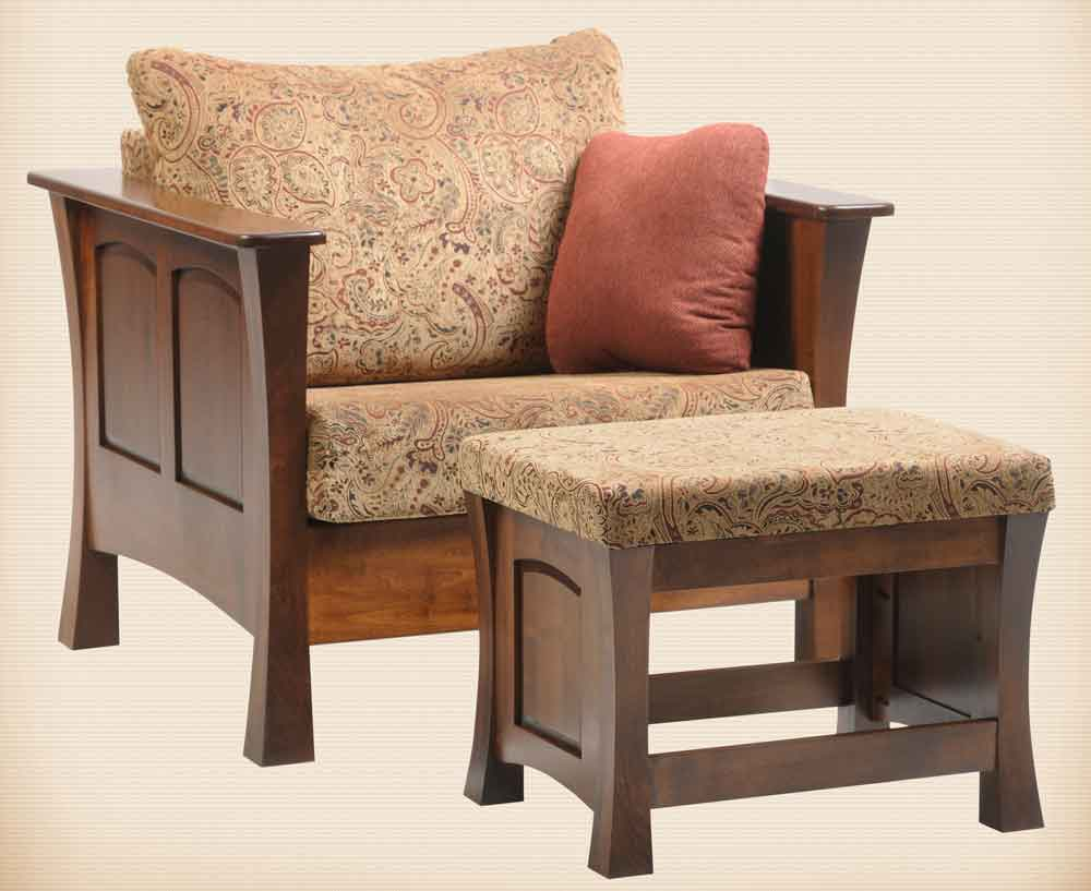 Woodbury Seating Collection Chair & Ottoman