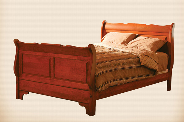 Colonial Sleigh Bed