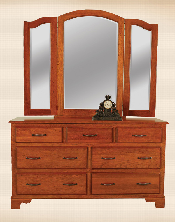 Colonial Tri View Mirror