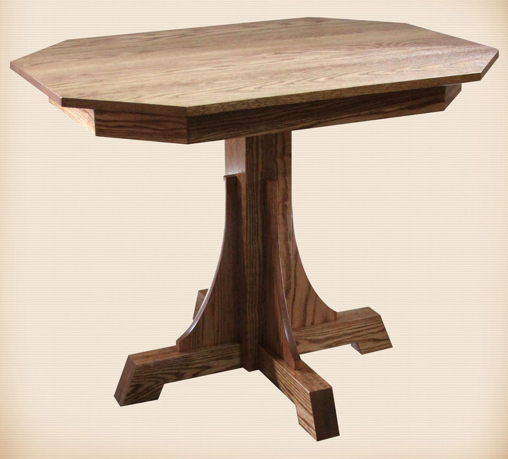 Mission Pedestal Collection Breakfast Table