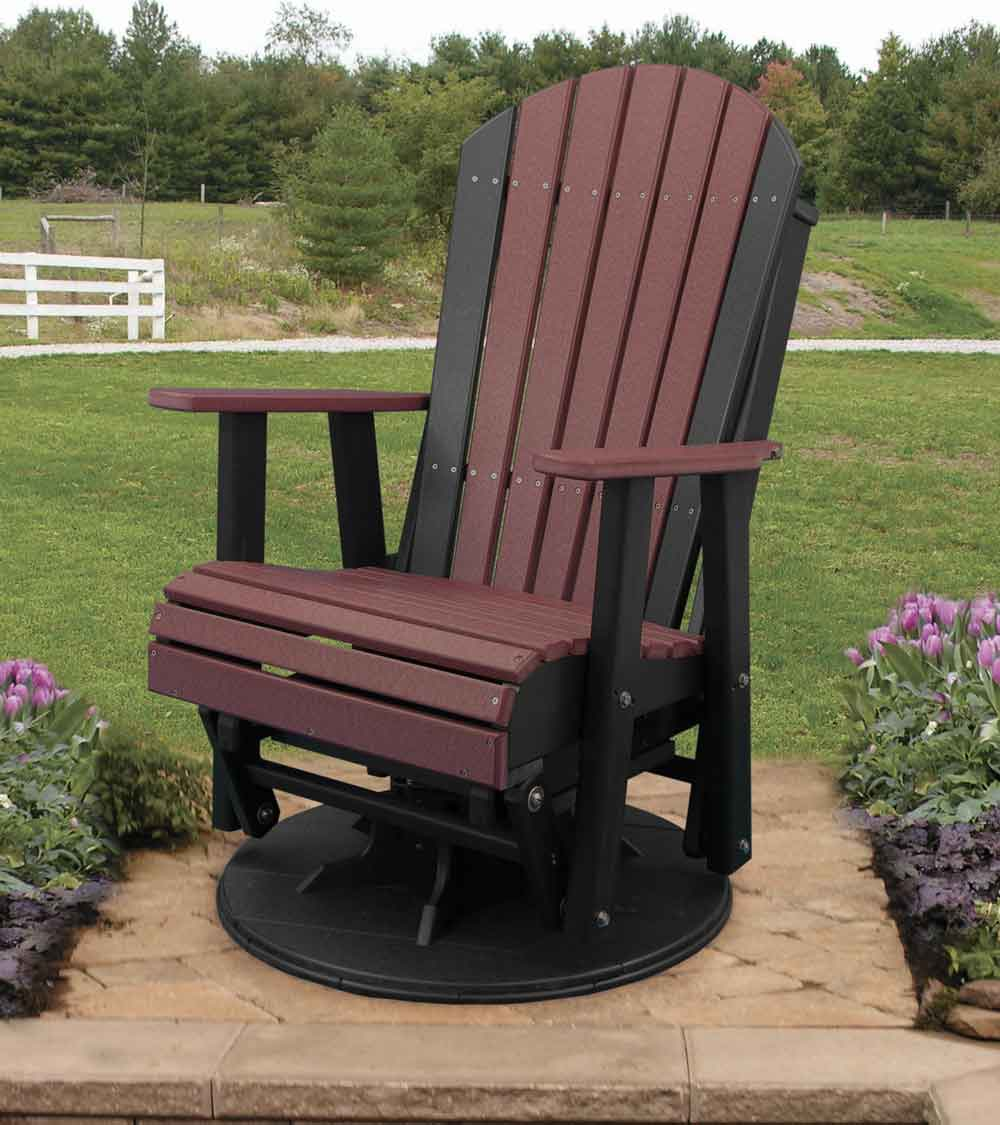 2' Adirondack Swivel Glider - Amish Home Furnishings - Amish Furniture In Daytona Beach Florida