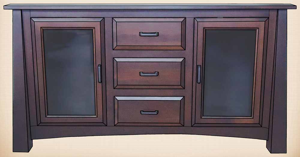 Madison TV Stand with Doors & Drawers