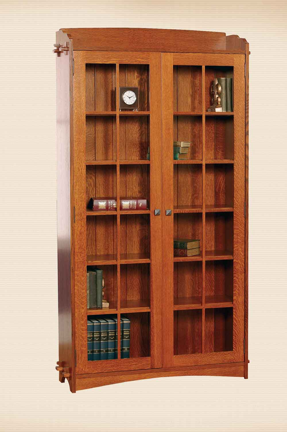 Village Mission Tall Bookcase with Doors
