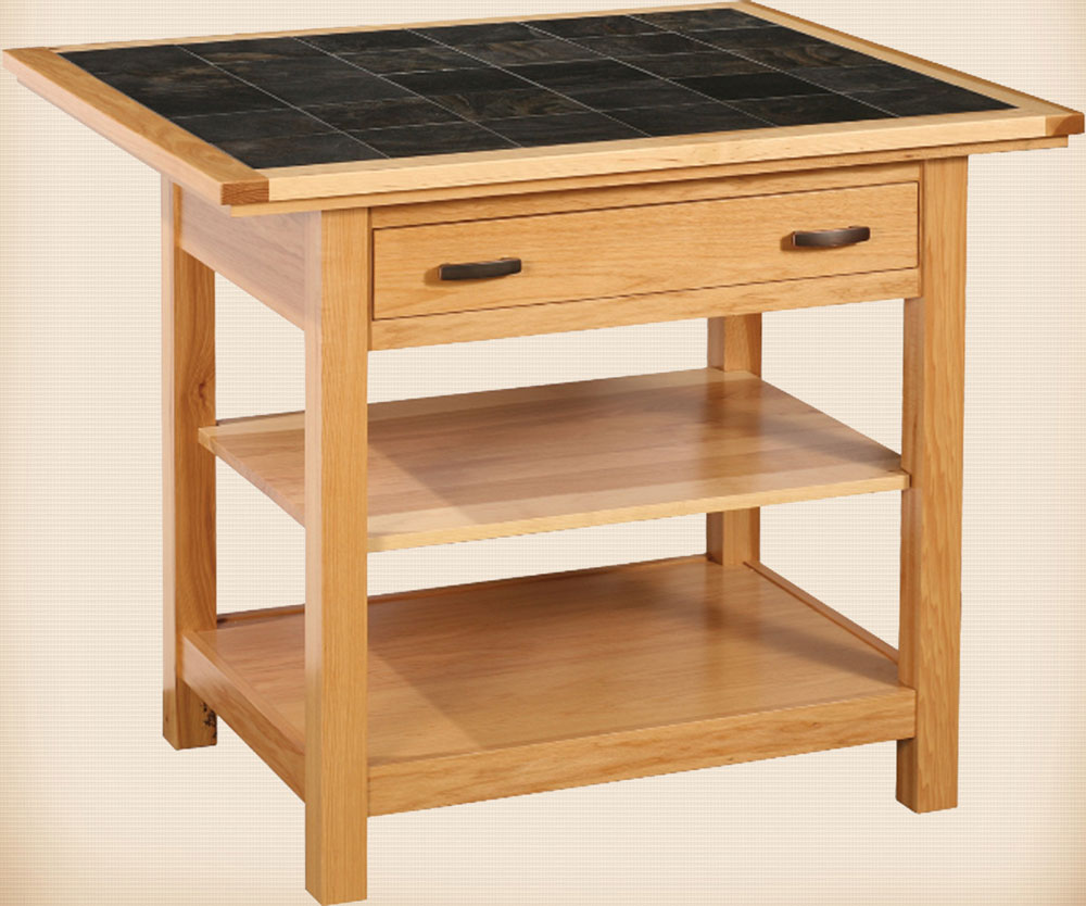 Brookline Mission Island Table with Tile Top