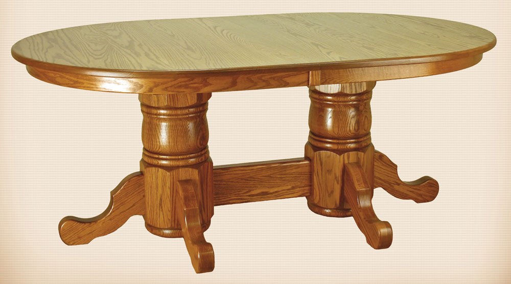 Andover Turned Double Pedestal Table