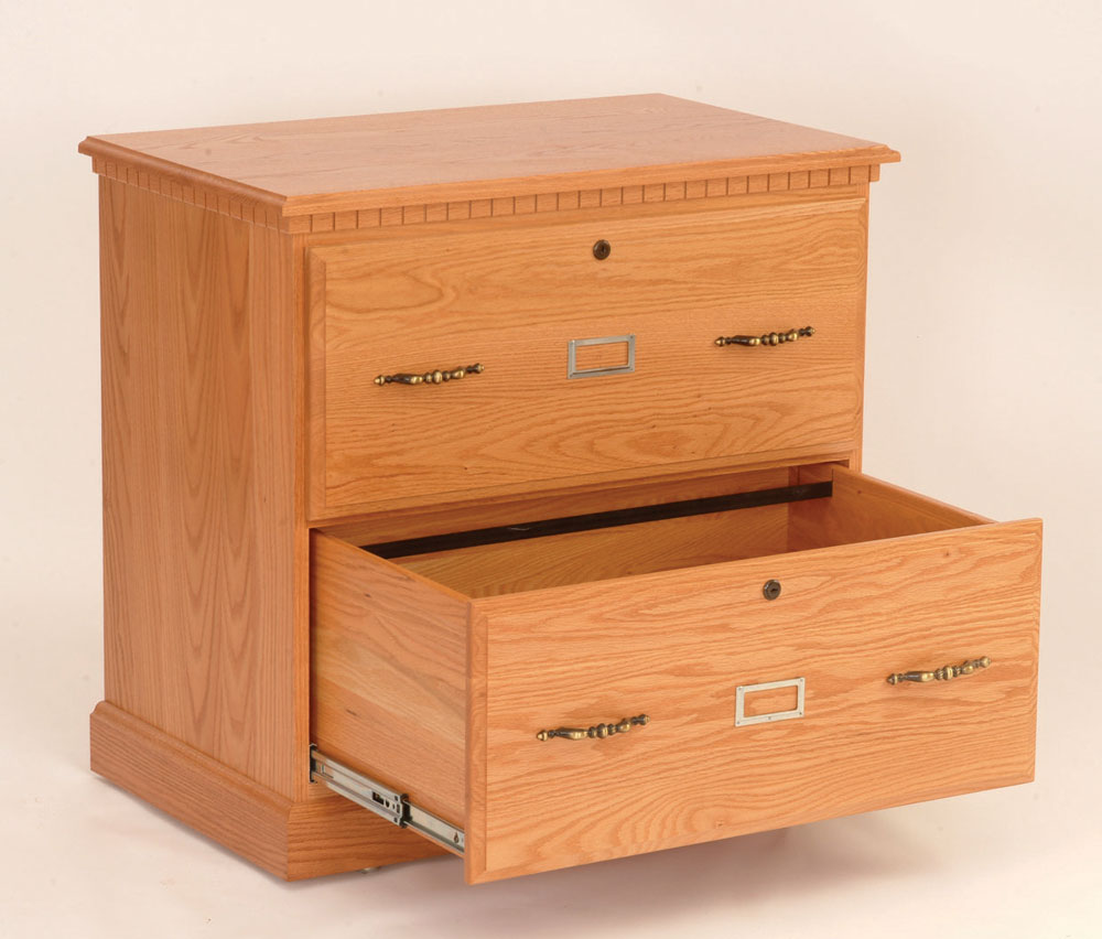 Traditional Style 2 Drawer Lateral File Cabinet