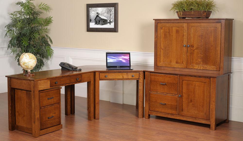 The Downing Street Executive Curio Desk: Amish Furniture In Daytona Beach