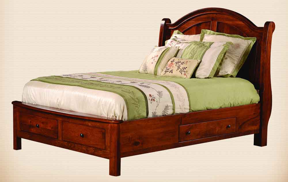 Duchess Sleigh Storage Bed with Meridian Footboard