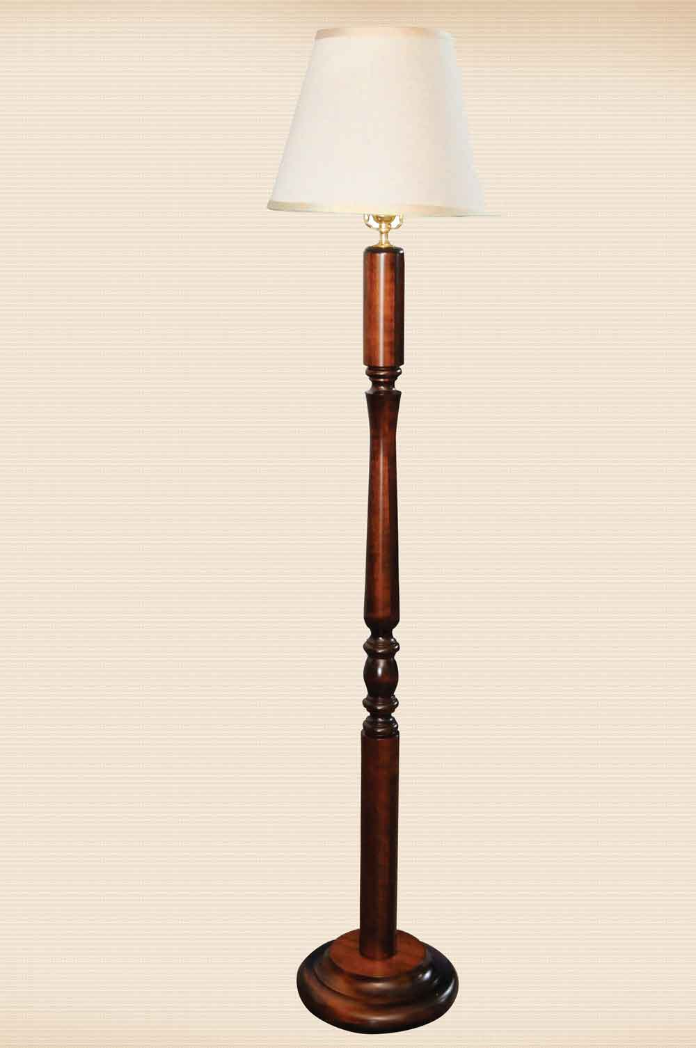 Turned Post Reading Lamp with Round Base