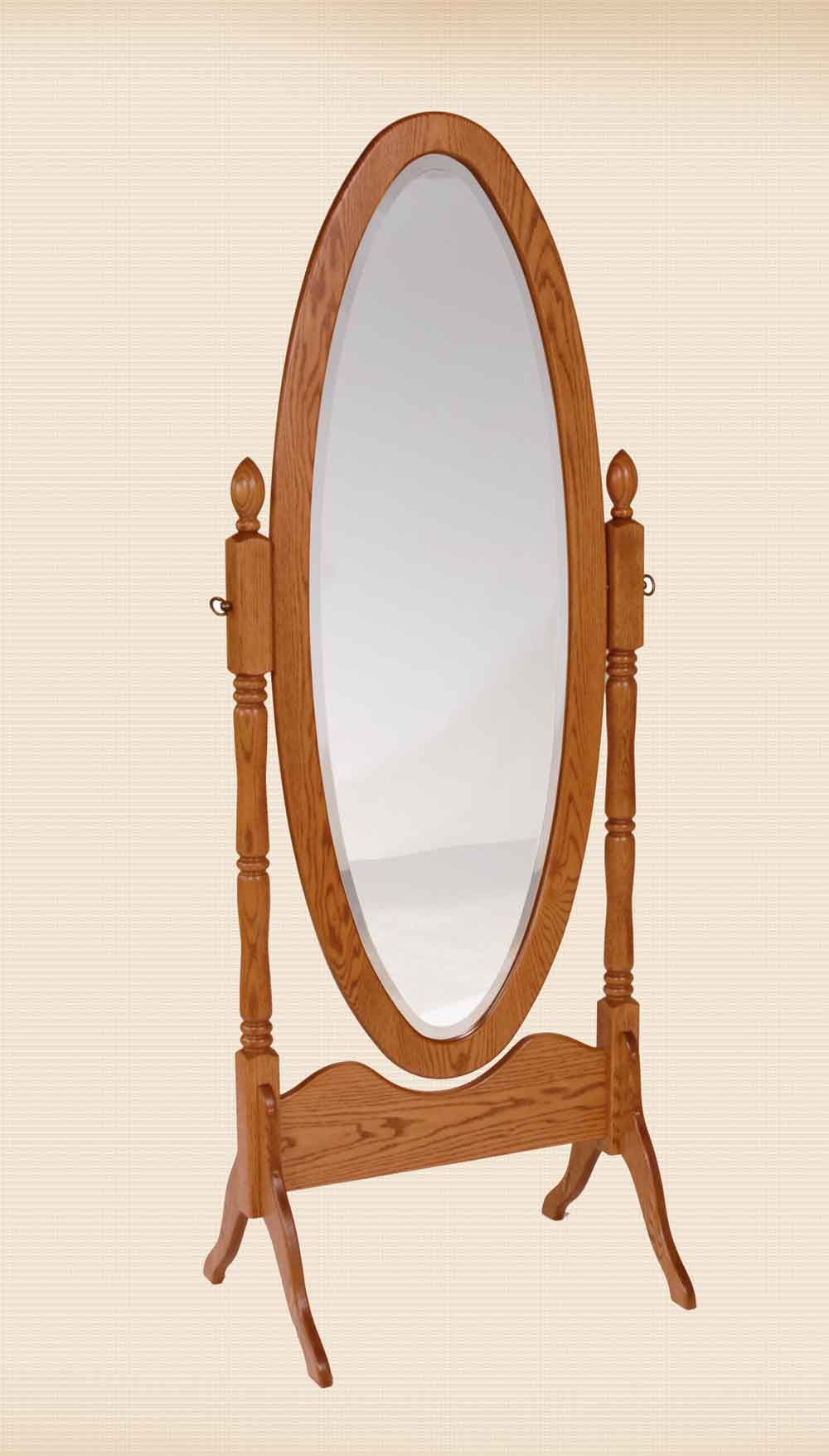 True Oval Cheval Mirror