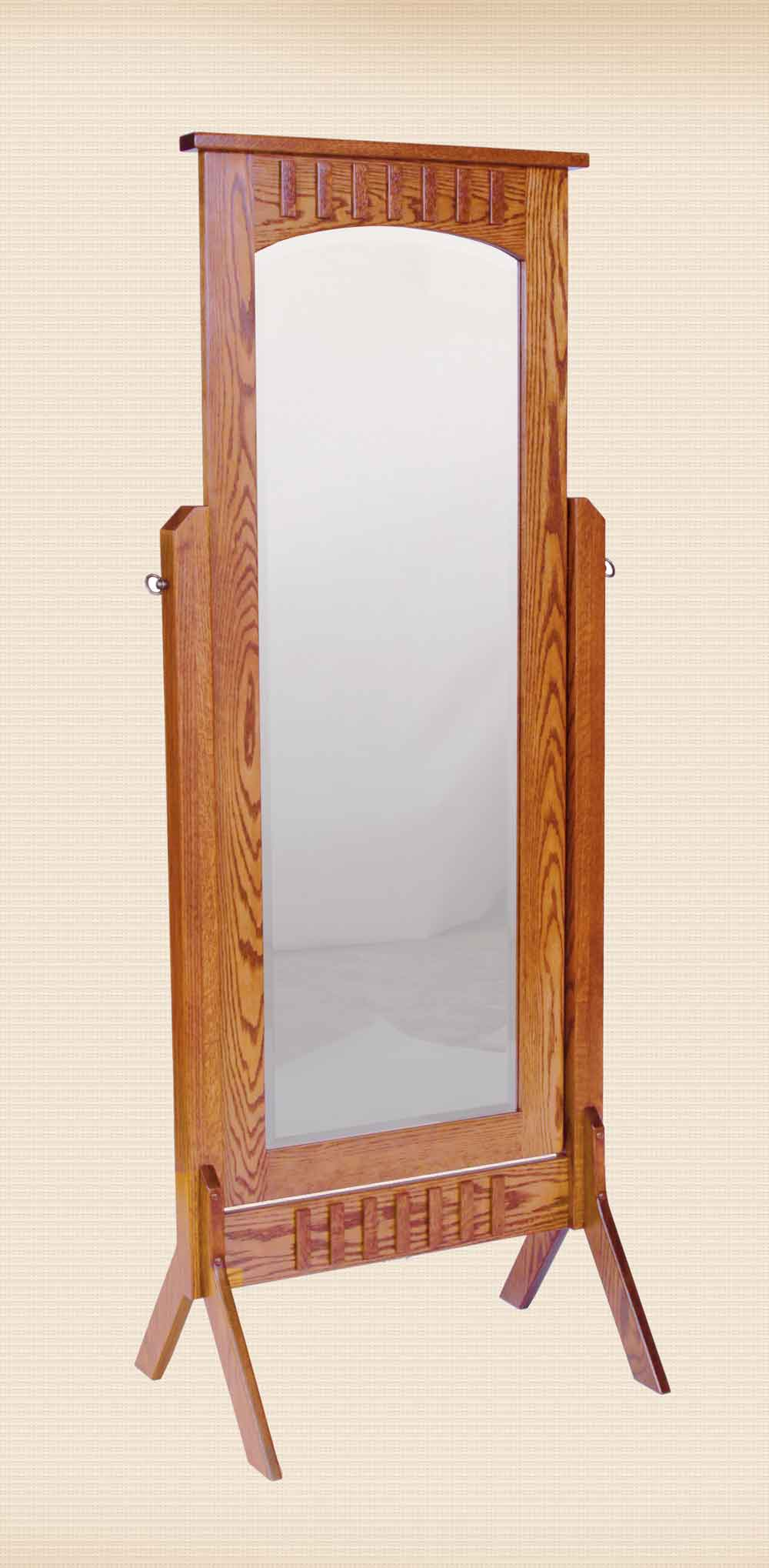 Mission Style Cheval Mirror