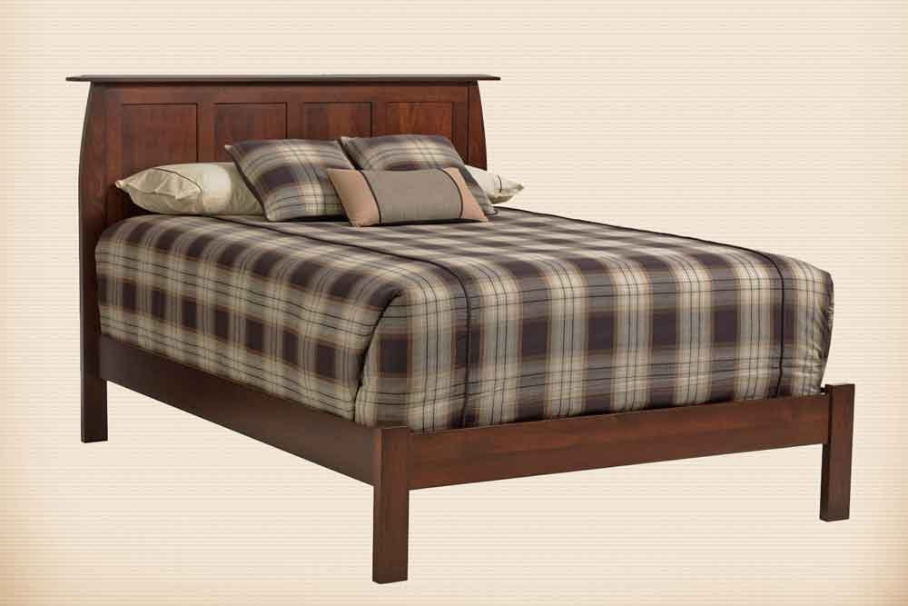 Bordeaux Panel Bed with Low Footboard