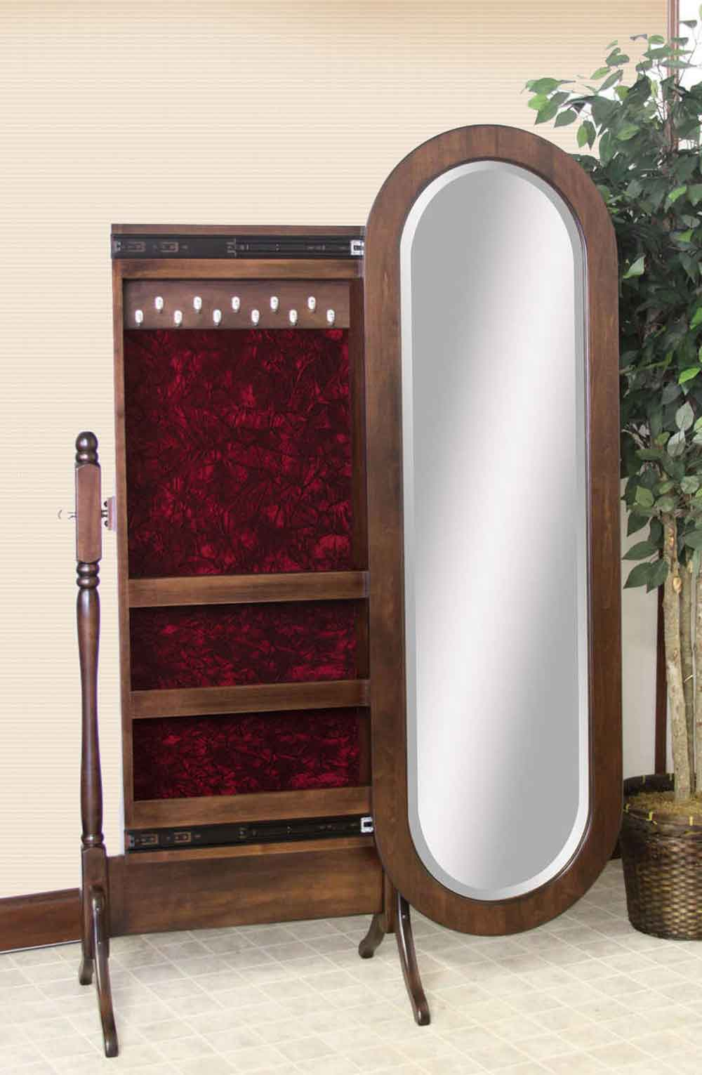 Lexington Oval Sliding Jewelry Storage Cheval Mirror
