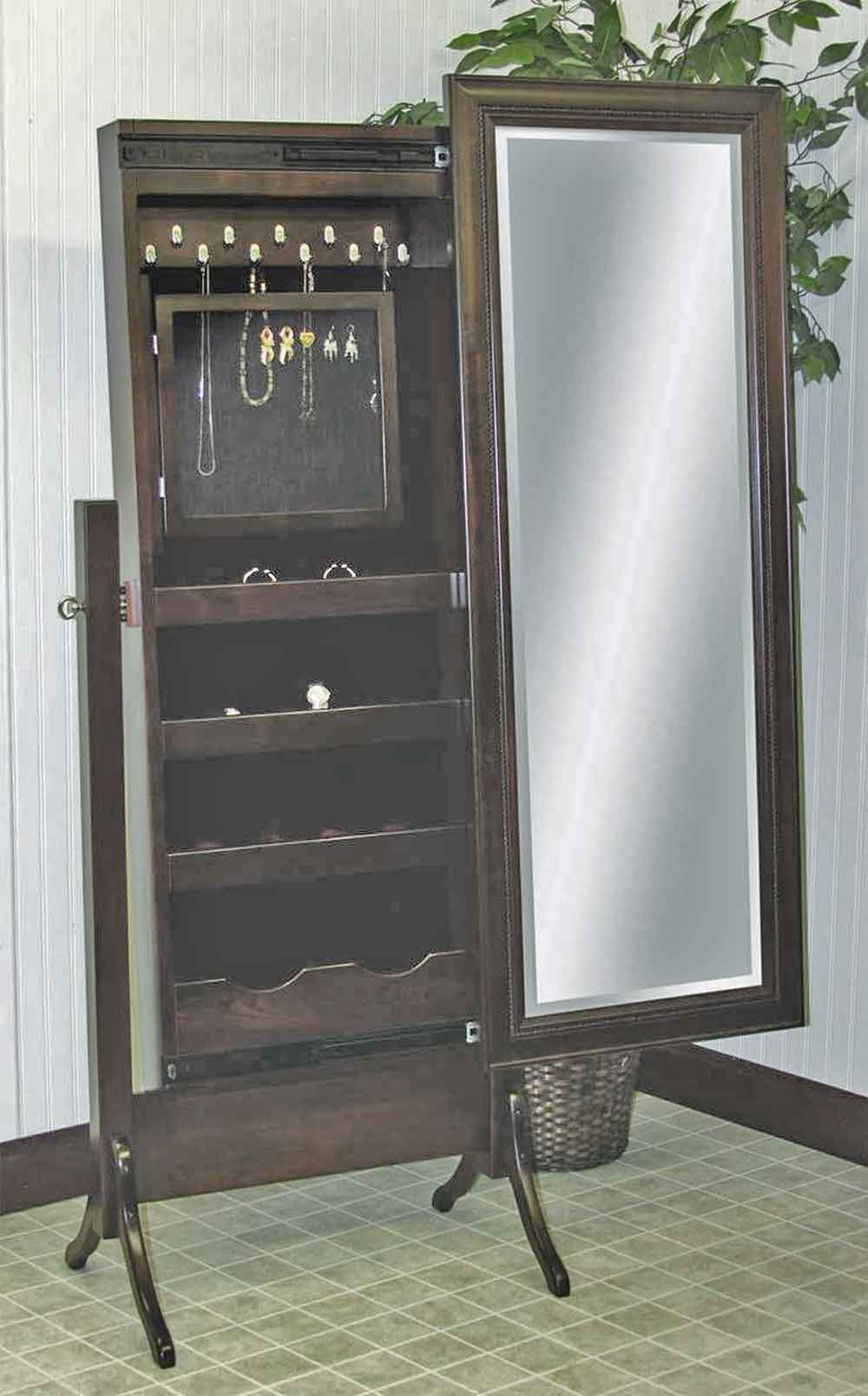 Chestnut Ridge Sliding Jewelry Storage Cheval Mirror