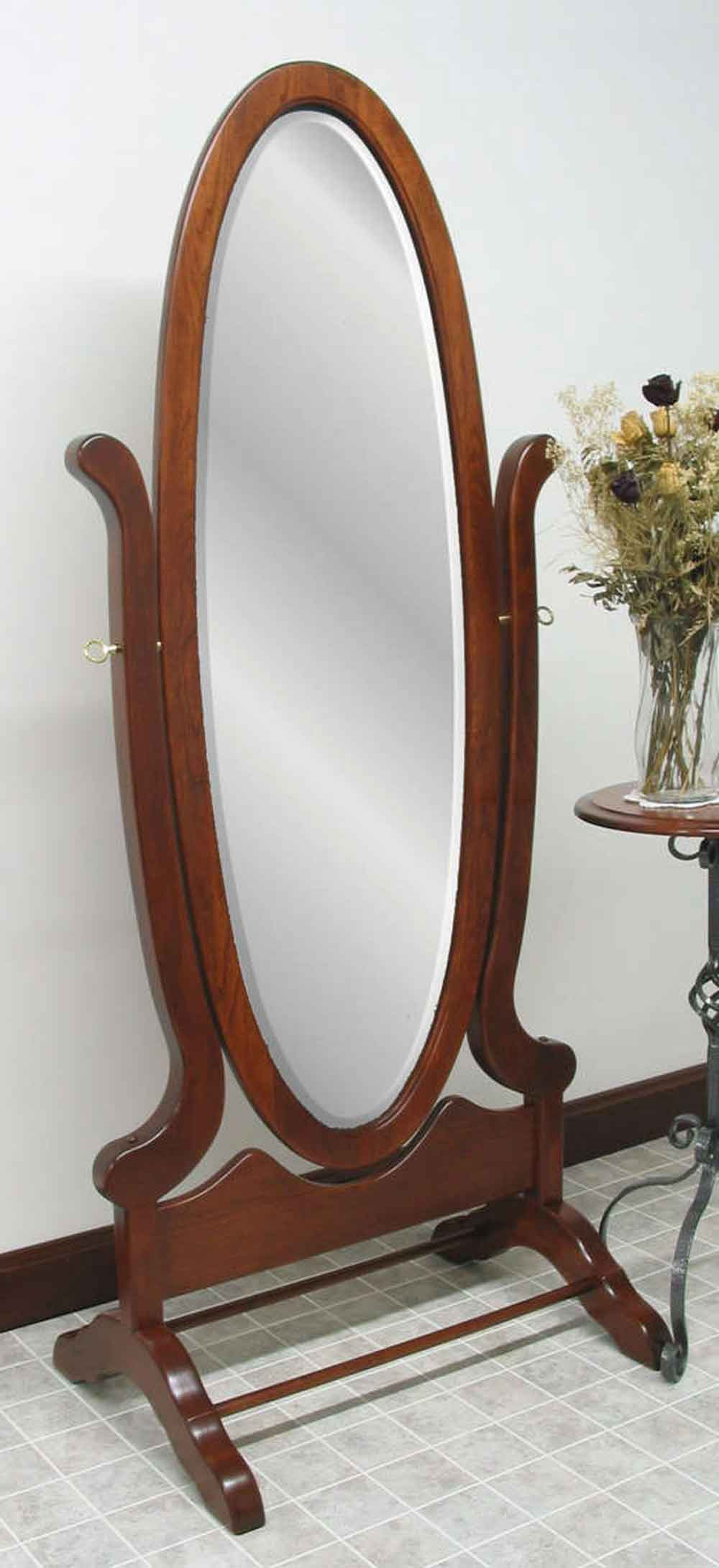 Victorian Oval Cheval Mirror
