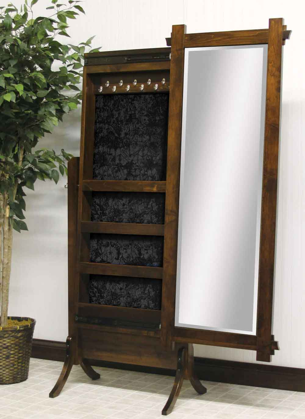 Hartford Sliding Jewelry Storage Cheval Mirror