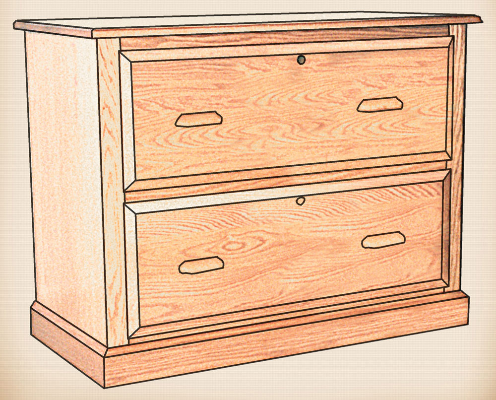 The Traditional Collection 2 Drawer Lateral File Cabinet