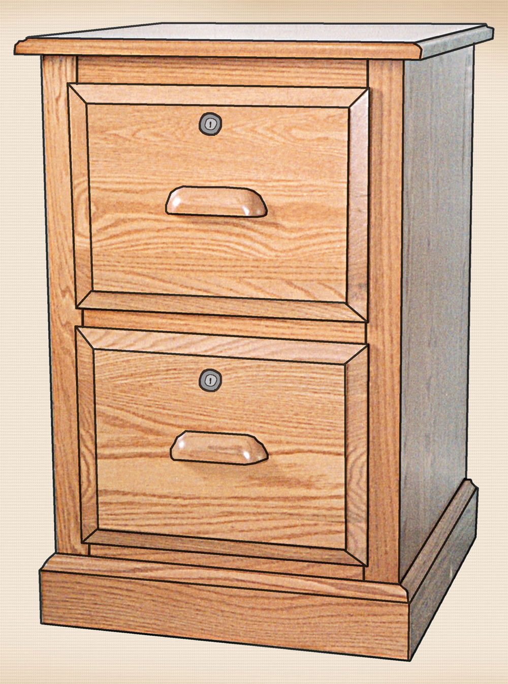 The Traditional Collection 2 Drawer Letter File Cabinet