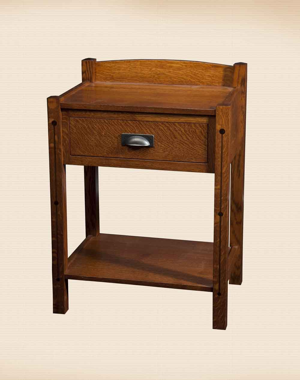 Crafters Mission 1 Drawer Nightstand
