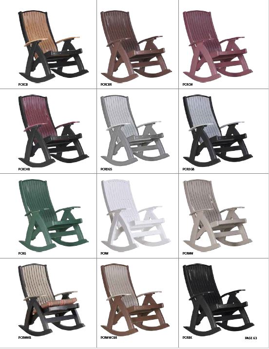 Krestview Comfort Rocker Stock Color Chart